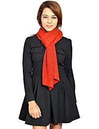 513 Knitted self design women's muffler
