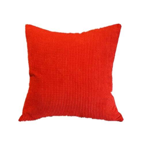 Cosanter tinta unita semplice con chiusura a zip–federa per cuscino 45x 45cm federa per divano letto o divano outdoor living, beige, rot, 45*45cm