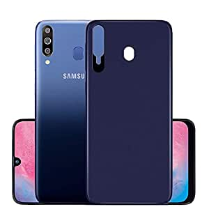 WOW Imagine Abstract Sleek Design Flexible Silicone Edge to Edge 360 Degree Protection Shockproof Slim Back Case Cover for Samsung Galaxy M30 M 30 - Washington Blue