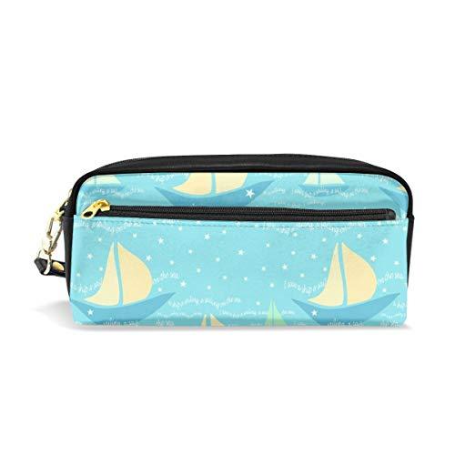 A Lullaby I Saw A Boat A-sailing, The Sailing On The Sea_748 Bolsas de cosméticos Estuche de lápices Organizador portátil de maquillaje de viaje Fundas multifunción para mujeres