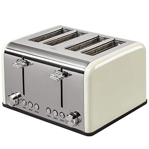 Toaster Mit 4 Scheiben, Toaster Mit 4 Scheiben Und Extra Breitem Schlitz, Toaster Aus Edelstahl Mit 6 Toasteinstellungen Für Schnelles Und Gleichmäßiges Toasten, Mehrere Farben