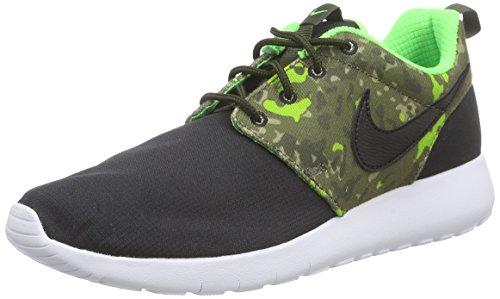 Nike Roshe One Print (GS), Jungen Laufschuhe, Mehrfarbig (Black/Black-Craig Khaki-Green Strike), 38.5 EU (Nike-jungen Rosa Socken)