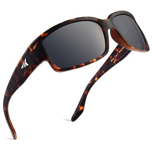 KastKönig Unisex - Erwachsene Skidaway polarisiert Sport-Sonnenbrille für Und, Ideal für Angeln Radfahren Fahren und Laufen, UV-Schutz Rahmen: Matte Demi/Linse: Rauch DAS
