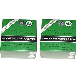 2 x SANYE ANTI - ADIPOSE TEA DETOXIFYING, LAXATIVE, FAST WEIGHT LOSS 60 sachets