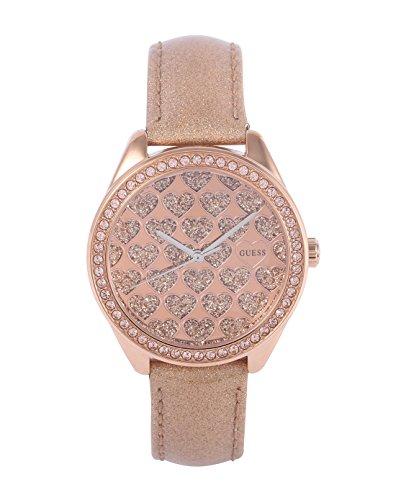 Guess Damen-Armbanduhr Analog Quarz Leder W0549L1