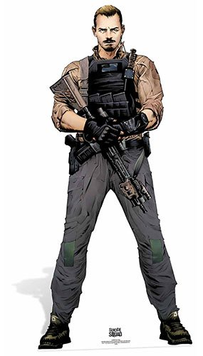 Star Aussparungen Rick Flagge Suicide Squad Life Größe Pappe, mehrfarbig