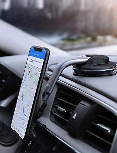 AUKEY Porta Cellulare Auto Magnetico 360 Gradi di Rotazione Cruscotto Supporto Smartphone Auto Universale per iPhone XS/XS Max, Samsung Galaxy S10+, Huawei e GPS Dispositiv