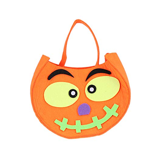 Amosfun Halloween Kürbis Tasche tragbare Kinder Candy Bag Handtasche Kürbis Eimer und Goodie Bag Kostüm Party (Trick Or Treat Kostüm Bilder)