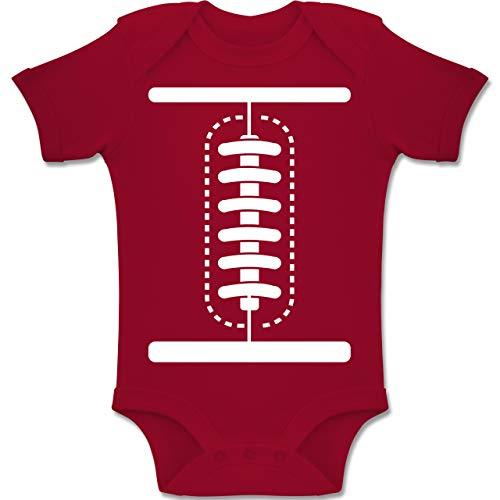 Shirtracer Karneval und Fasching Baby - Football Baby Kostüm - 6-12 Monate - Rot - BZ10 - Baby Body Kurzarm Jungen - Kostüm Für Eltern Und Baby