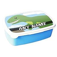 Personalised Trex Dinosaur BLUE Lunchbox