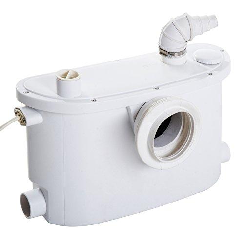 Homcom Hebeanlage Abwasserpumpe Fäkalienpumpe Haushaltspumpe für WC Dusche, 400W, 45x21,5x29cm