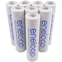 8 x Sanyo Eneloop Micro Akkus Batterien AAA in speziellen Weiss - More Power + Transportschutzboxen