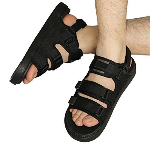 Haodasi Unisex Sommer Sandalen Gehen Wandern Trekking Weg Schuhe Hausschuhe Rutschfest Schwarz