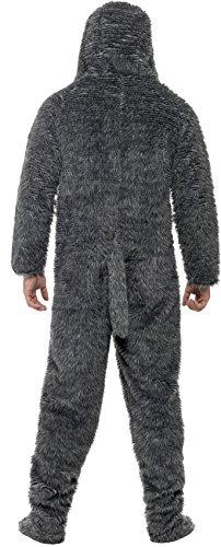Imagen de smiffy's  disfraz de perro con capucha todo en uno, color gris 23605l  alternativa