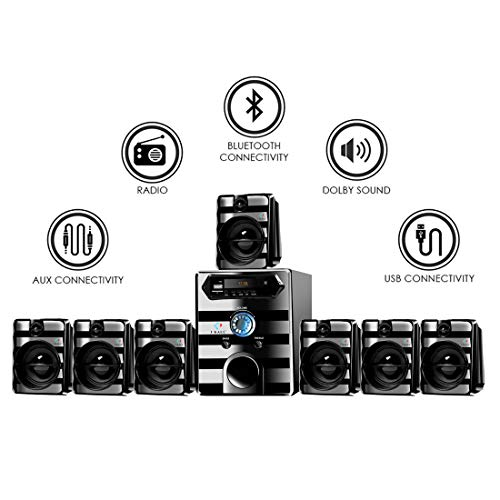 IKALL IK-8888 7.1 Channel Bluetooth Home Theater System (Black)