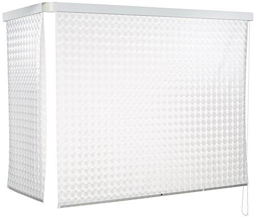 ECK Duschrollo 137 x 62 cm weiß - Kreisel von Eco-Dur thumbnail