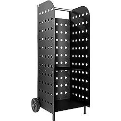 TecTake Chariot à bois de chauffage cheminée panier porte-foyer au bois poêle
