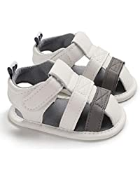 1bc7b9585 Misifeng Newborn Baby Boy Soft Sole White Crib Shoes Toddler Summer Sandals  Size 0-18