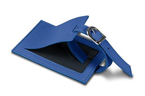 Lucrin - Etichetta per bagagli - Rosso - Pelle Liscia Blu Azzuro