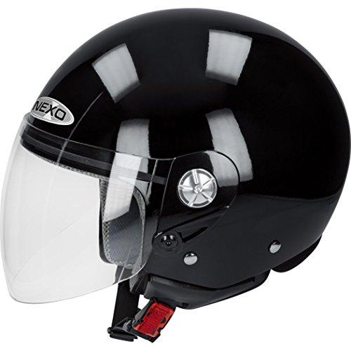 Nexo Motorradhelm Demi Jet Helm City schwarz L