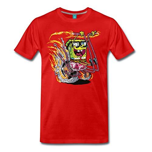 Spreadshirt Spongebob auf Motorrad Männer Premium T-Shirt, 3XL, Rot