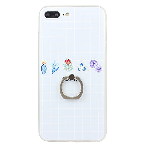 Coque iPhone 7 Plus, Moon mood 2in1 Hybrid Cover avec 360 Degree Rotating Grip Finger Ring Case Bling Gliter Sparkle Briller Coque [PP Détachable Bling Paper] pour iPhone 7 Plus Paillette Anti Choc Ho Style-4