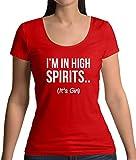 I'm In High Spirits… It's Gin Lustiges Damen T-Shirt mit Rundhalsausschnitt - Rot - L