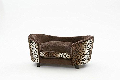 Artikelbild: Hundesofa 'Leo', braun/leopard