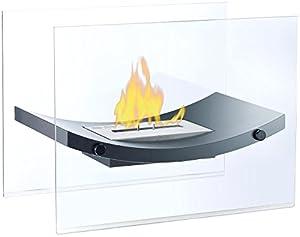 Das flackernde Feuer im eleganten Glas sorgt für entspannende StundenMit seinem  modernen und edlen Design  ist der  gläserne Kamin  der Hingucker in Ihrem Wohnzimmer. Das lodernde Feuer spendet Ihnen jederzeit eine  angenehme Wärme.  Einfach befülle...