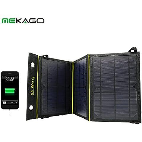 Portatile, con doppia porta di ricarica a energia solare, con