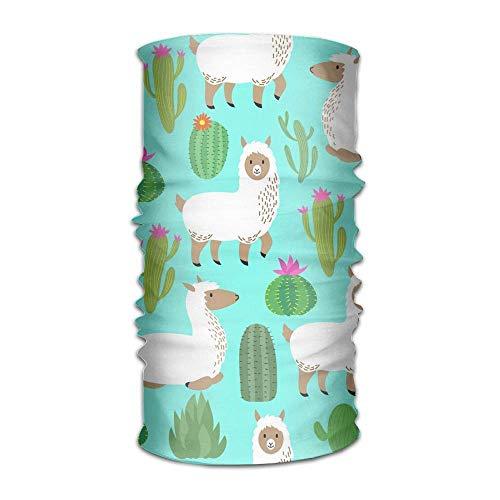FAFANIQ Cute Alpaca Cactus Unisex Breathable Headband Bandanas Headwear Balaclava Neck Gaiter Magic Scarf UV Protection for Daily Activities