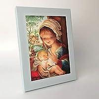 Virgen lago 30x40cm. Ilustración de Juan Ferrándiz impresa en lienzo. Serie limitada y numerada
