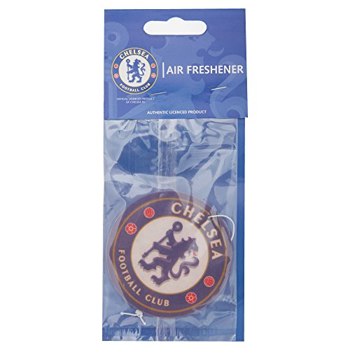 Air Freshener / Lufterfrischer / Wunderbaum / Autoduft mit Motiv Chelsea FC Logo (Einheitsgröße) (Blau/Weiß)