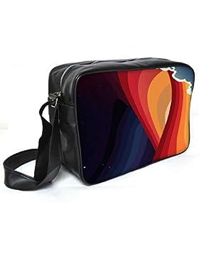 Snoogg Universal Paradigm 2465Leder Unisex Messenger Bag für College Schule täglichen Gebrauch Tasche Material PU