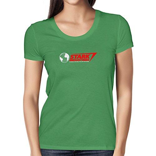 TEXLAB - Stark Industries Changing The World - Damen T-Shirt Grün