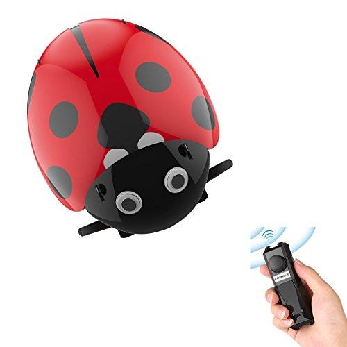 Virhuck DIY Spielzeug Intelligente RC Marienkäfer Roboter Weihnachtsgeschenke, Bionic Insekt Spielzeug für Kinder, 2.4GHz Fernbedienung/Intelligenter Sensor/3 Steuerungsmodus Elektronische Auto