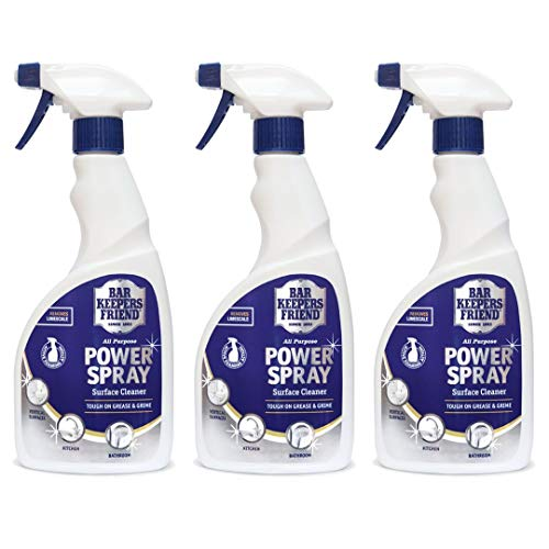 Bar Keepers Friend Fleckenentferner-Power-Spray, Universalreiniger zum Aufsprühen (500 ml), 3 Stück Bar Keepers