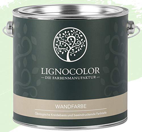Lignocolor Wandfarbe Innenfarbe Deckenfarbe edelmatt 2,5 L (Seagrass)