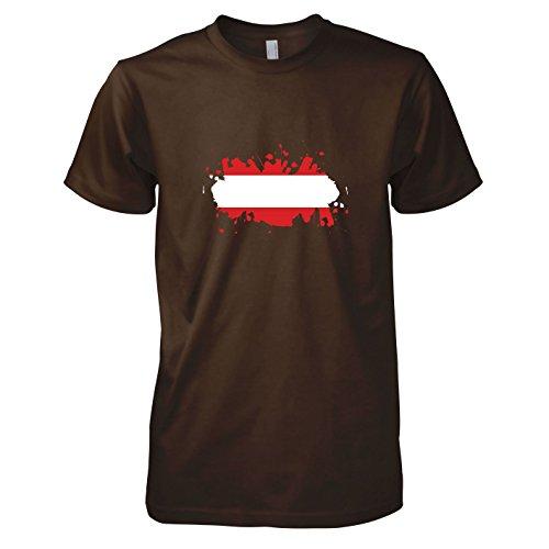 Texlab Herren Splash Österreich - T-Shirt Braun, M