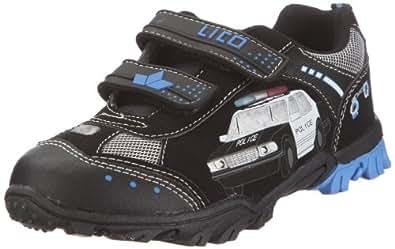 Lico Chief V, Jungen Sneakers, Schwarz (schwarz/royalblau/silber), 23 EU