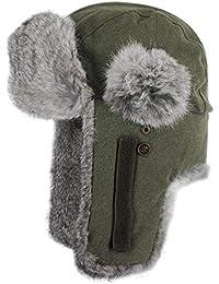 Stetson Hatfield Fliegermütze für Damen und Herren LapeerHatfield mit Futter, Klettverschluss, Klettverschluss Winter