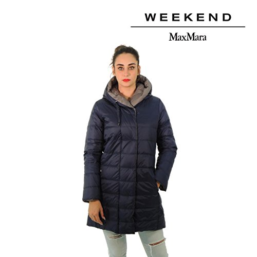 MaxMara Weekend LUIS piumino donna lungo con cappuccio cappotto padded jacket (46, BLUMARINE)