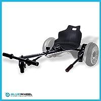 Bluewheel Hovokart HK200 Sitz Erweiterung für 6, 5 - 10 Zoll Hoverboard, E-Kart, Elektro Go-Kart, Sitzaufsatz, Schalensitz & Umbausatz, anpassbarer Stahl-Rahmen