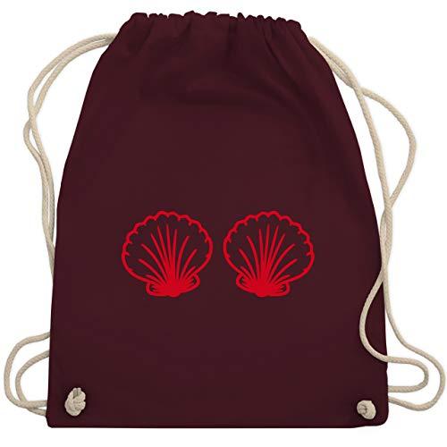 (Karneval & Fasching - Meerjungfrau Kostüm rot - Unisize - Bordeauxrot - WM110 - Turnbeutel & Gym Bag)