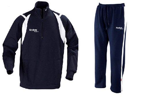 Reebok Sweatsuit Deluxe mit Zip navy, Größe:S (Navy Sweatsuit)