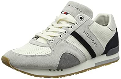 Tommy Hilfiger New Iconic Casual Runner, Sneakers Basses Homme, (Ice 101), 43 EU