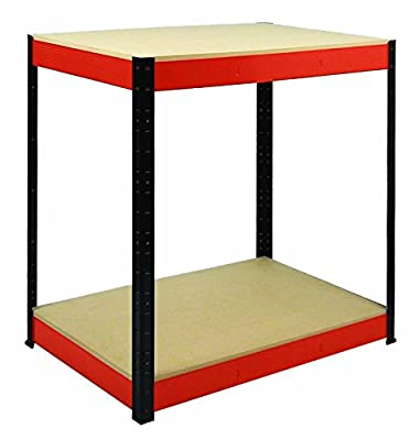 Shelf Depot 900 x 900 x 600 mm 300 kg UDL RB Boss Workbench with 2 MDF Shelves - Multi-Colour - low-cost UK light store.