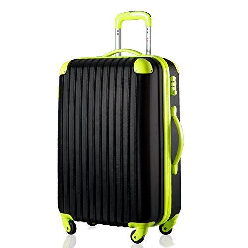 travelhouse-hard-shell-lightweight-travel-luggage-suitcase-4-wheel-spinner-trolley-bag-28-black-gree