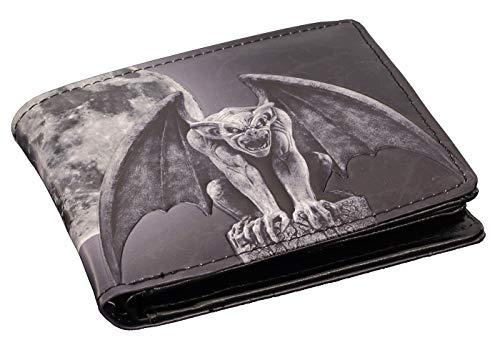 Herren Geldbörse mit Gargoyle-Motiv | Fantasy Gothic Geldbeutel Portemonnaie Mann Drache - Gothic Gargoyle