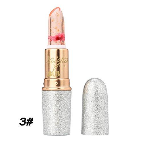 Rouge à lèvres, Honestyi Rouge à lèvres Flower Jelly Hydratant Nourrissant Baume à lèvres transparent Crystal Discoloration (3#)